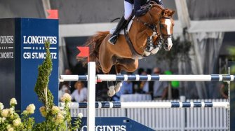 Kent Farrington winner of the Longines Grand Prix of St. Moritz