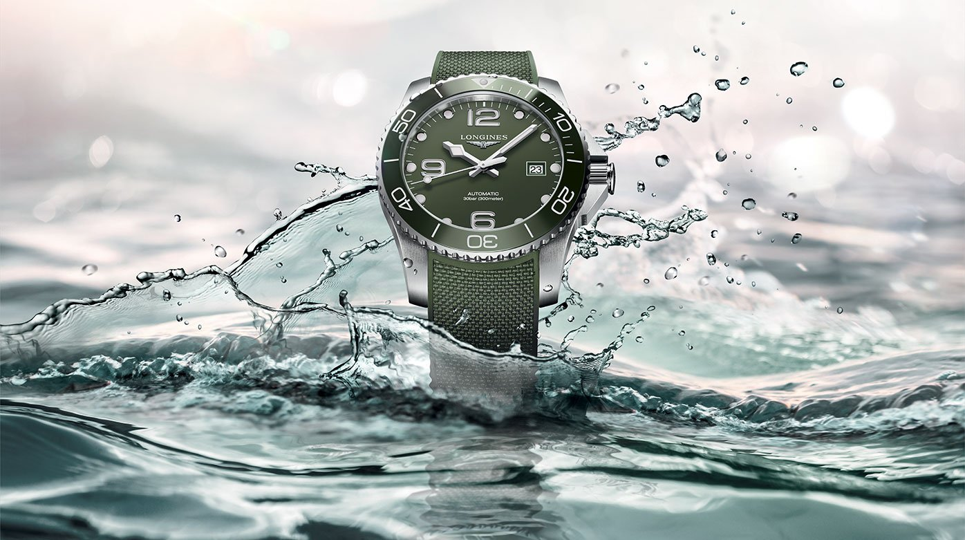 Longines  - HydroConquest: a new look in green