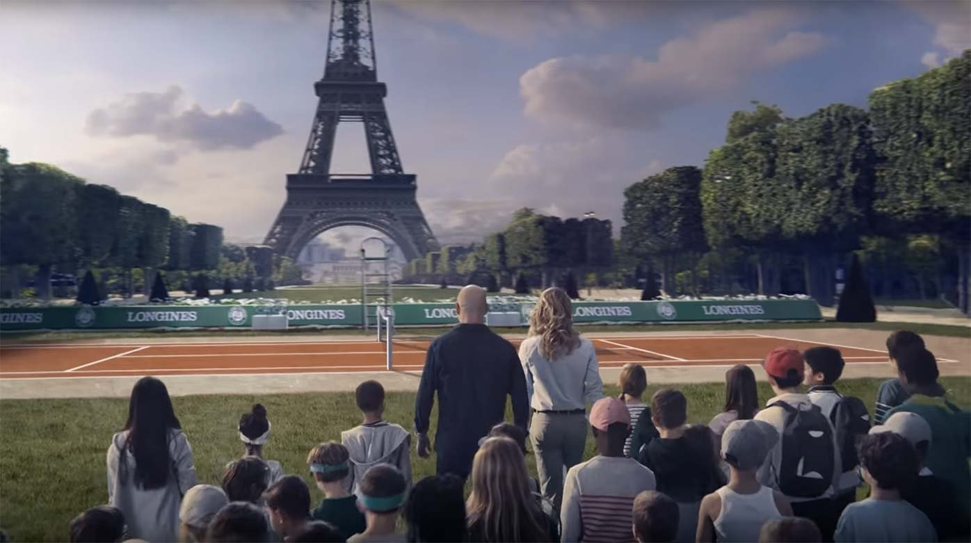 Longines - On the road to Roland-Garros with Steffi Graf, Andre Agassi and the Conquest V.H.P