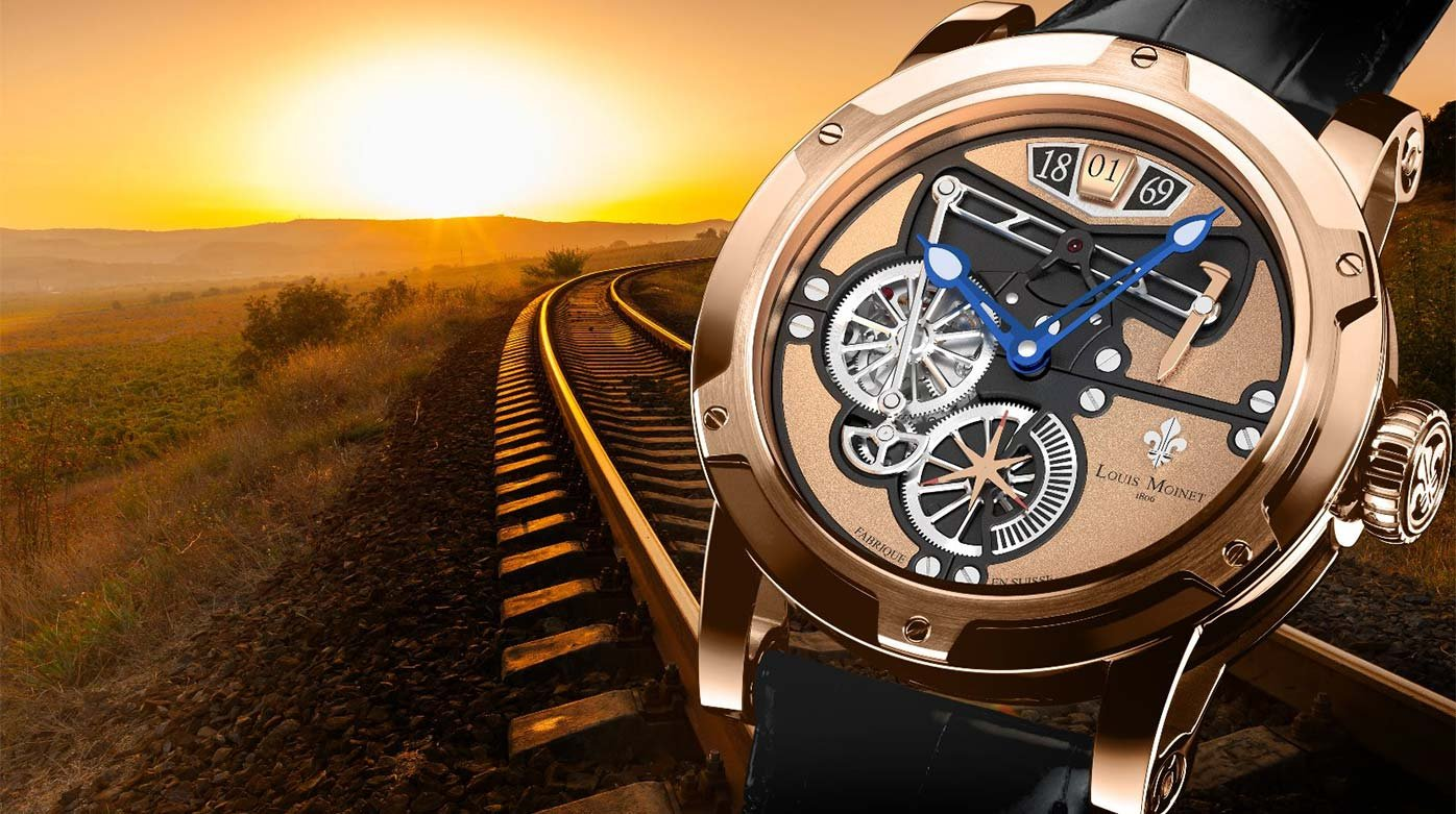 Louis Moinet - Railroad watches: Louis Moinet pays tribute to a transcontinental triumph