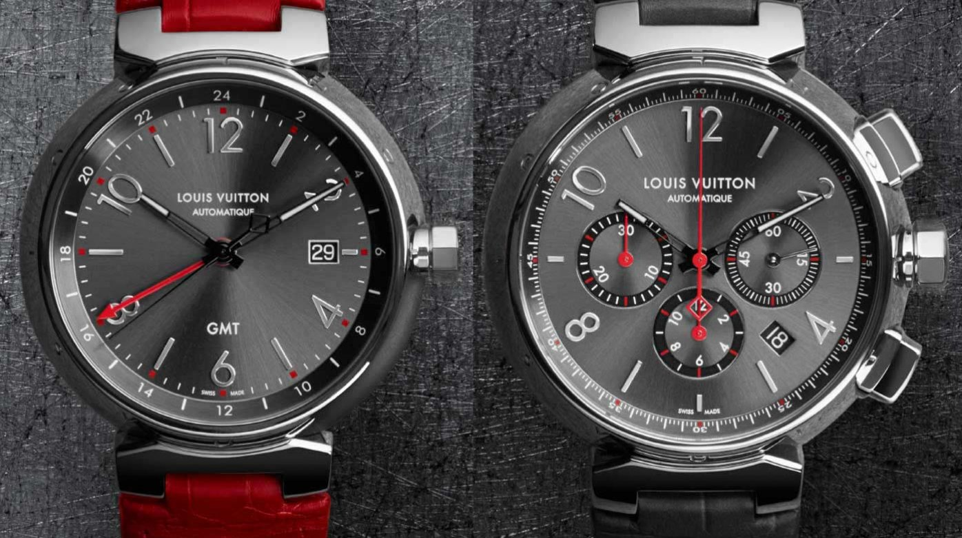 Louis Vuitton - Tambour Essential Grey, GMT and chronograph