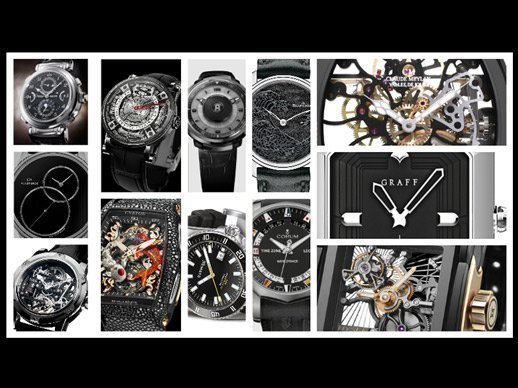 Black watches - A range of styles happily mix it up with black