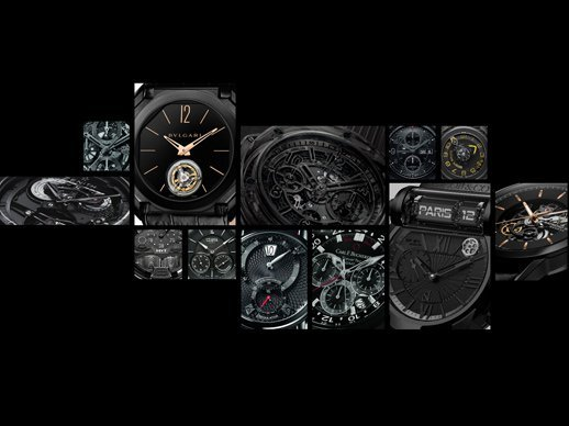 Black watches from Baselworld - Black is black