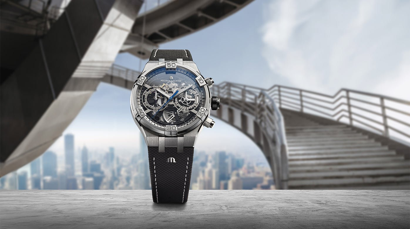 Maurice Lacroix  - The graphic power of the Aikon Chronograph Skeleton