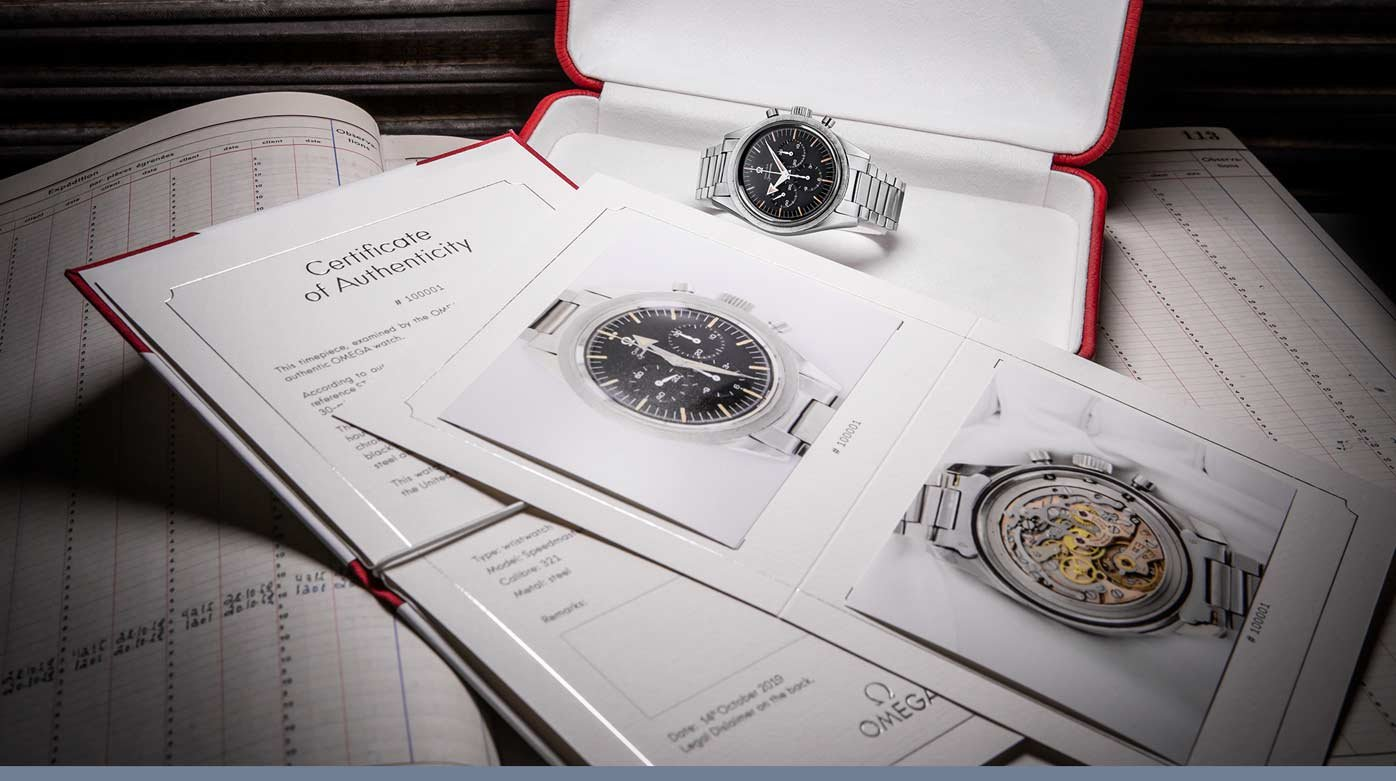 Omega - New Certificate of Authenticity