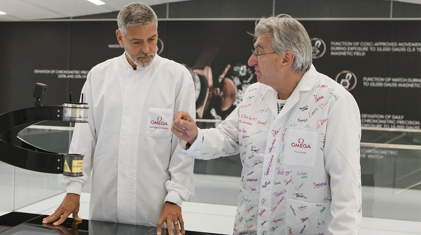 Omega - George Clooney visits the manufacture