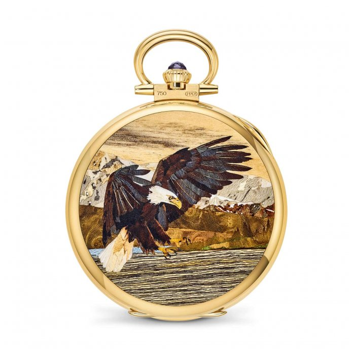 Pocket watch Wood Marquetry