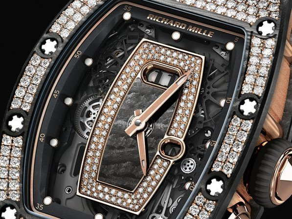 Richard Mille - New RM 07-01 and RM 037 featuring gem-set NTPT carbon