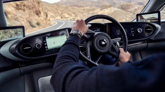 Driving around town with McLaren and Richard Mille
