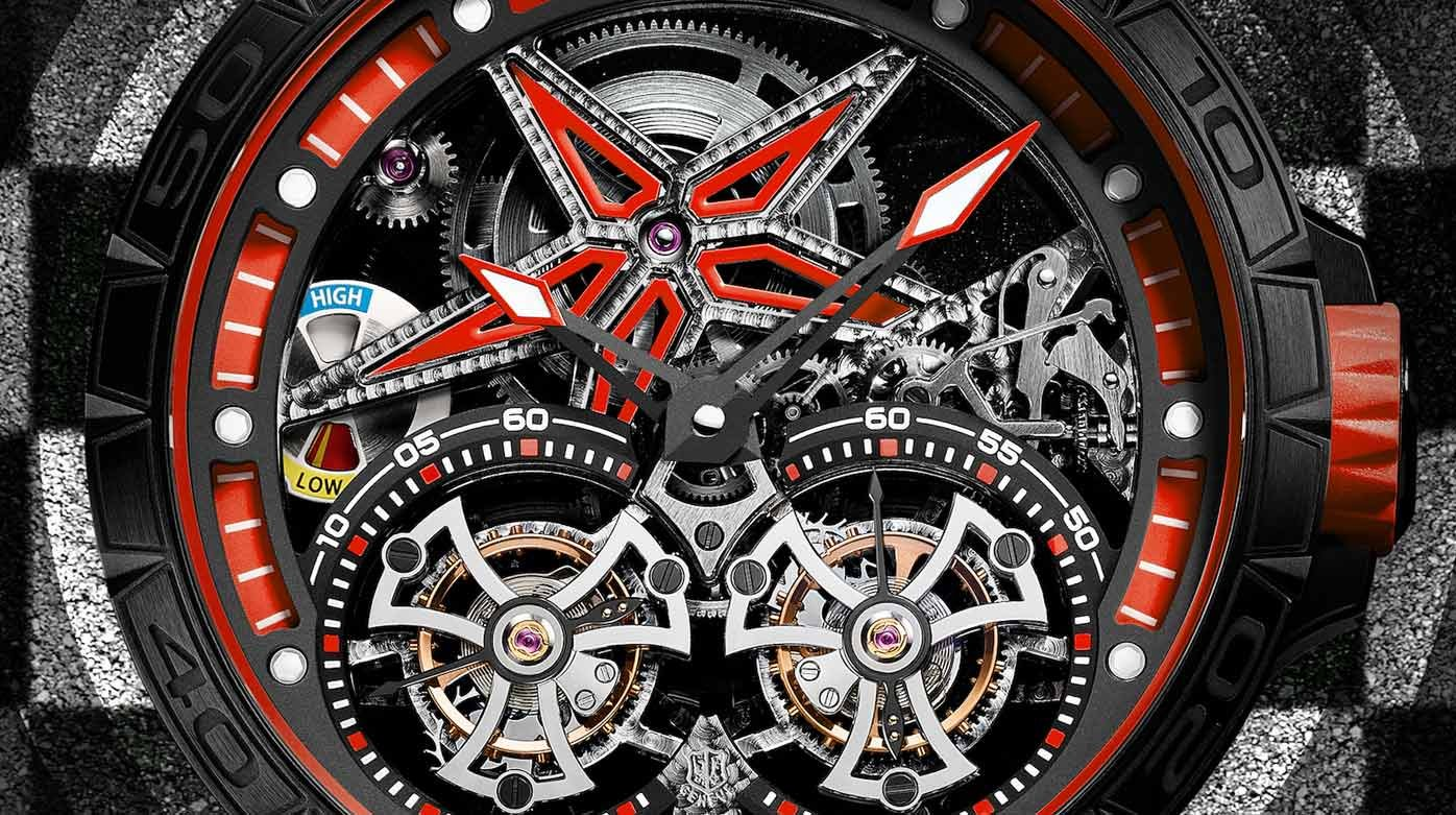 Roger Dubuis - Excalibur Spider Pirelli Double Flying Tourbillon Red