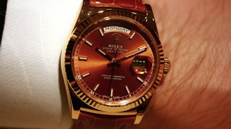 The one that got away: 2013 Rolex Day-Date with leather strap