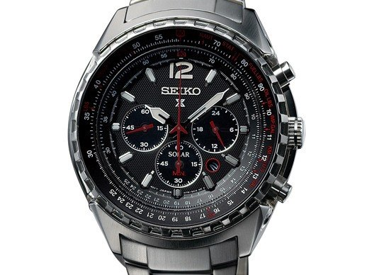 Seiko - Chronographe d'aviation solaire Prospex