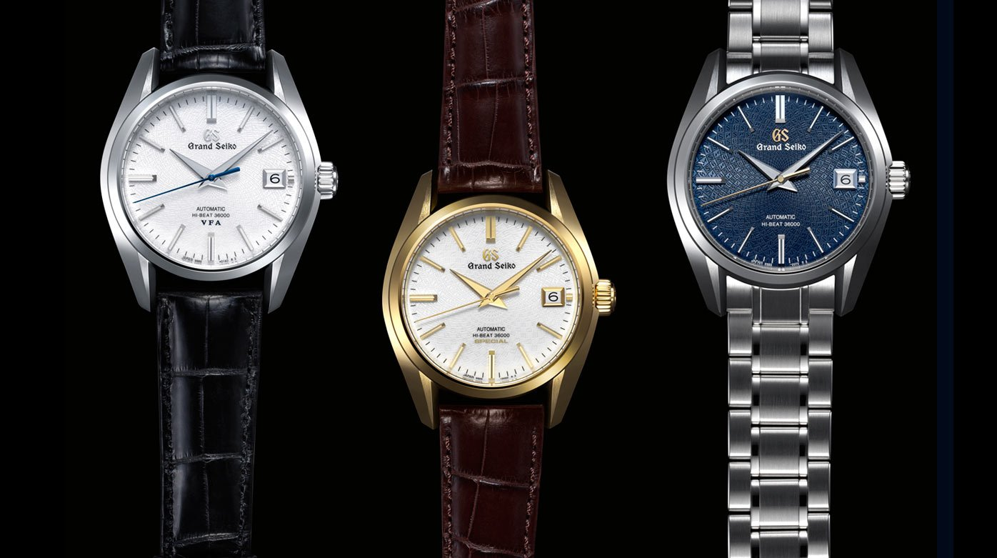 Grand Seiko - Three new Hi-Beat 3600 models