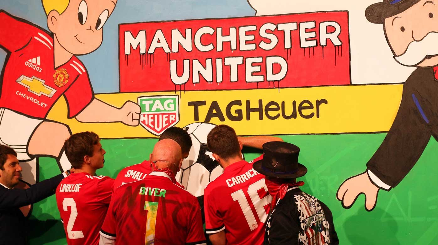 TAG Heuer -  Alec Monopoly leaves his mark at Old Trafford