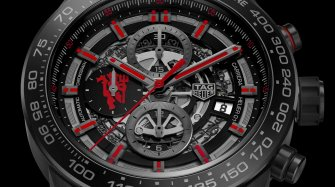 Carrera Calibre Heuer-01 Chronographe Manufacture Manchester United Edition Spéciale
