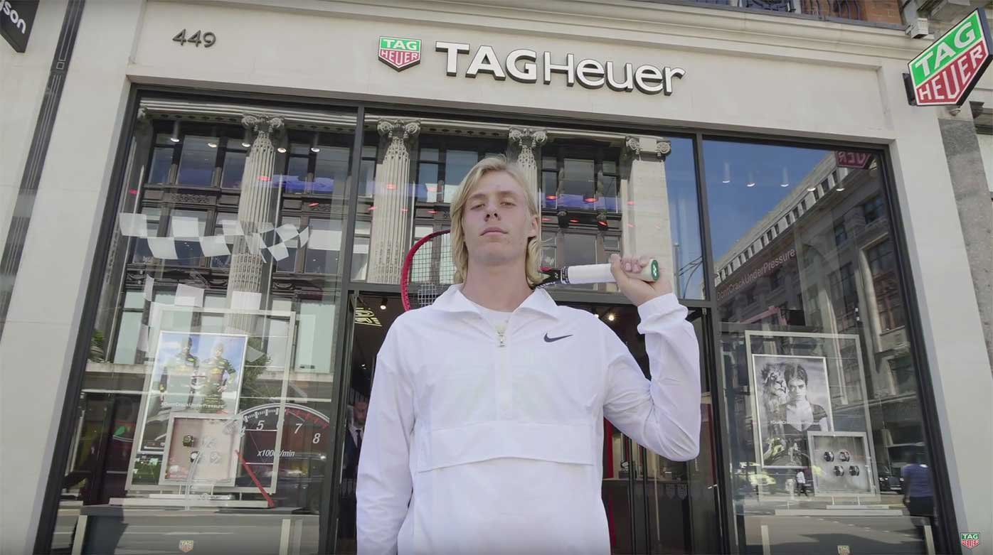 TAG Heuer - Speed and agility, that is the mission of Denis Shapovalov