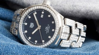 Link 41mm set with diamonds Trends and style