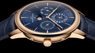 Patrimony perpetual calendar ultra-thin, blue dial