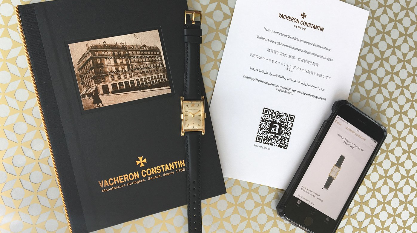 Vacheron Constantin - The brand enlists with Arianee to develop its digital certificate of authenticity