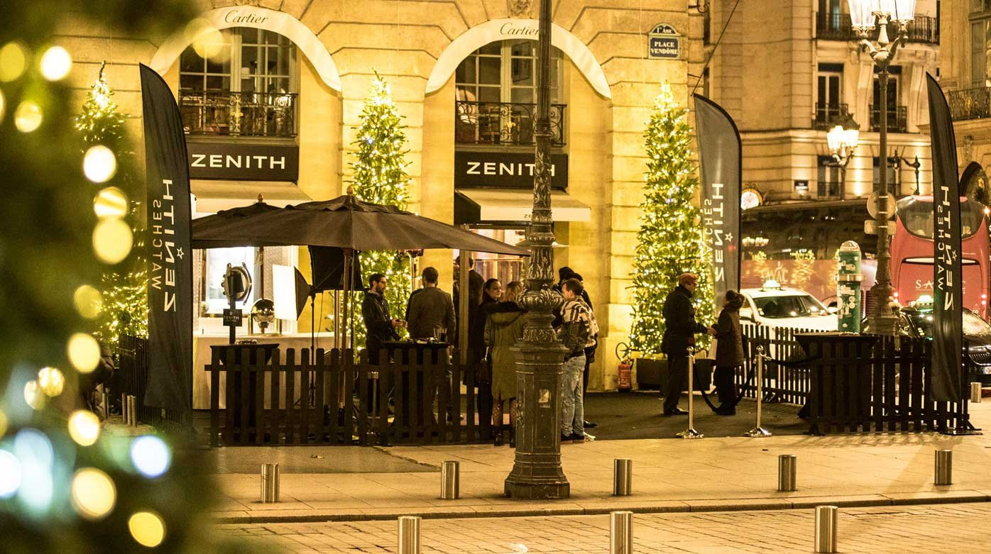 Zenith - Pop-up boutique on Place Vendôme