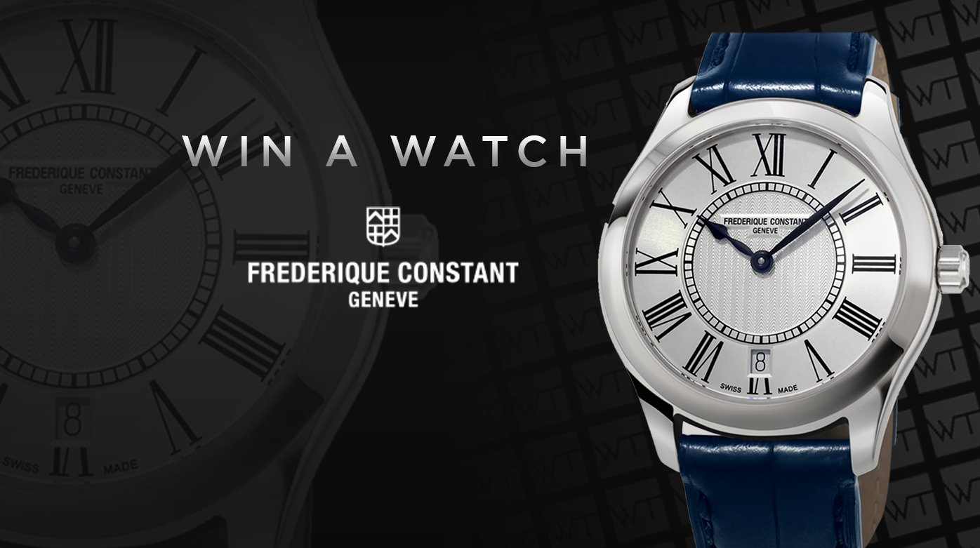 Frederique Constant - A happy winner
