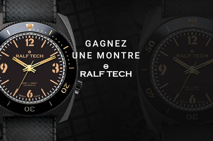 "Gagnez une montre RALF TECH WRB Automatic ""First Edition Black"""
