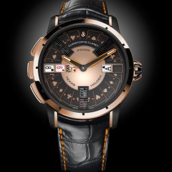 Poker, 5N red gold and black PVD-treated grade 5 titanium . © Christophe Claret