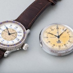 Longines Lindbergh and Eberhard split-seconds chronograph