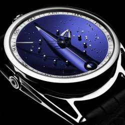 The celestial dial of De Bethune's Skybridge: extreme blueness. © De Bethune