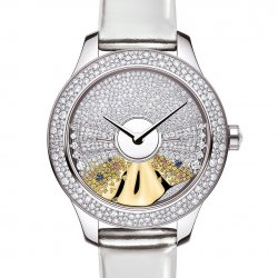Dior VIII Grand Bal Pièce Unique Ondine N.1, 36mm, white and yellow gold, diamonds, sapphires, yellow and pink sapphires