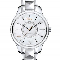 Dior VIII Montaigne, steel, mother-of-pearl, diamonds, 36mm  © Dior