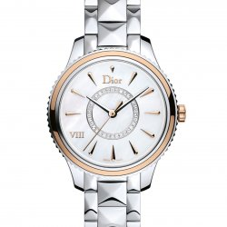 Dior VIII Montaigne, 32mm, steel and pink gold