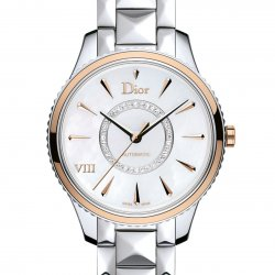 Dior VIII Montaigne, 36mm, steel and pink gold