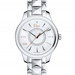 Dior VIII Montaigne, steel, mother-of-pearl, diamonds, 32mm  © Dior