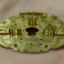A movement mainplate produced in-house at Hysek