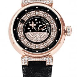 2010 - Tambour Spin Time Pink Gold Diamonds  © Louis Vuitton