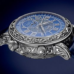 Patek Phillippe adorned its complex Sky Moon Tourbillon with an extraordinary case engraving © Patek Philippe