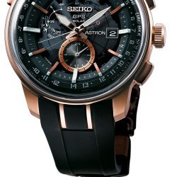 Astron GPS Solar ref. SAS032, stainless steel with pink gold-color hard coating. © Seiko