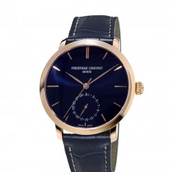 Rose gold plated case, navy blue dial - Ref. FC-710N4S4