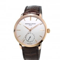 Rose gold plated case, silver dial - Ref. FC-710V4S4