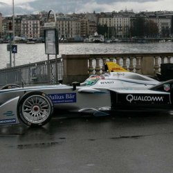 Formula E car at Les Paquis in Geneva