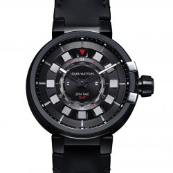 2015 - Tambour éVolution Spin Time GMT In Black  © Louis Vuitton