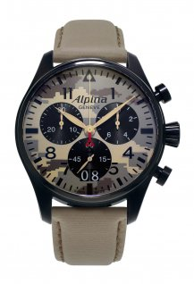 Alpina Startimer Camouflage Pilot Chronograph Grande Date