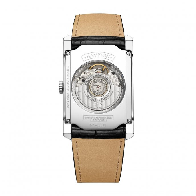 Baume & Mercier Hampton Automatic M0A10155 watch back view
