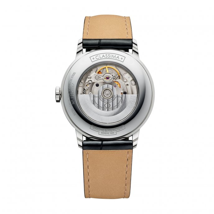 Baume & Mercier Classima Homme Automatique Bicolore 10216 Watch Back View