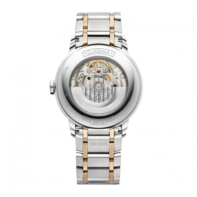Baume & Mercier Classima Homme Automatique Bicolore 10217 Watch Back View
