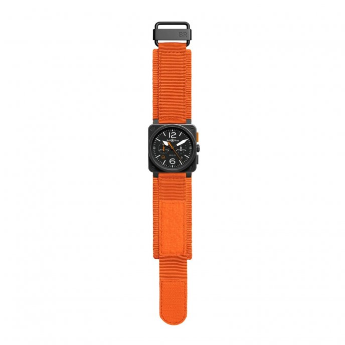 Bell & Ross Aviation BR 03-94 Carbon Orange - watch face view