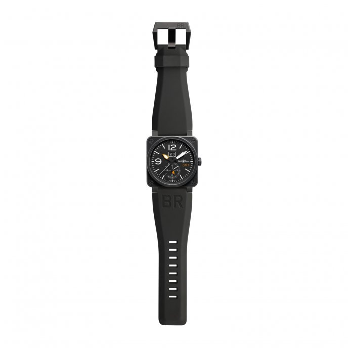 Bell-&-Ross-BR-03-51-GMT-CARBON-face-view