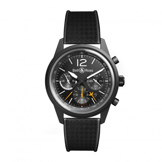 Bell & Ross BR 126 Flyback rubber - watch face view