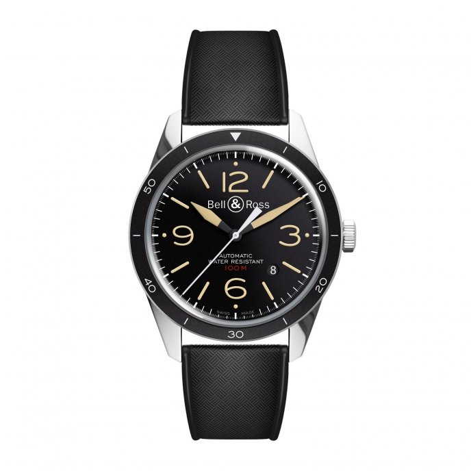 Bell-&-Ross-Vintage-BR-123-Sport-Heritage-rubber-face-view